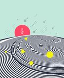 Patroon met optische illusie Abstracte 3d geometrische achtergrond Aziatische vectorillustratie vector illustratie