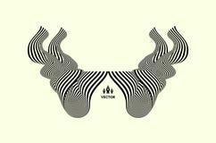 Patroon met optische illusie Abstracte 3d geometrische achtergrond Vector illustratie stock illustratie