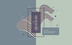 Patroon met optische illusie Abstracte 3d geometrische achtergrond Vector illustratie royalty-vrije illustratie