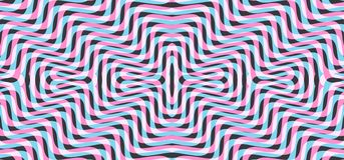 Patroon met optische illusie Abstracte gestreepte achtergrond Vector illustratie royalty-vrije illustratie