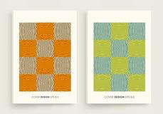 Patroon met optische illusie Het malplaatje van het dekkingsontwerp Abstracte gestreepte achtergrond Vector illustratie vector illustratie