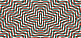 Patroon met optische illusie Zwart-wit ontwerp Abstracte gestreepte achtergrond Vector illustratie royalty-vrije illustratie