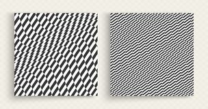 Patroon met optische illusie Zwart-wit ontwerp Abstracte gestreepte achtergrond Vector illustratie stock illustratie