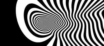 Patroon met optische illusie Zwart-wit ontwerp Abstracte gestreepte achtergrond Vector illustratie vector illustratie