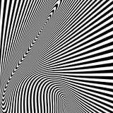 Patroon met optische illusie Zwart-witte achtergrond stock illustratie
