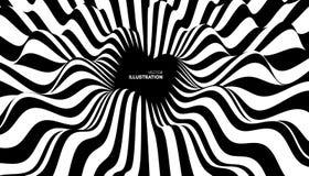 Patroon met optische illusie Zwart-witte achtergrond abstracte vectorillustratie vector illustratie