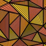 Patroon met oranje driehoek Royalty-vrije Stock Foto