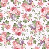 Patroon met pastelkleur roze rozen Stock Afbeelding