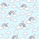 Patroon met regenboog Royalty-vrije Stock Afbeeldingen