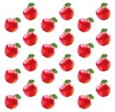 Patroon met rode appelen Stock Foto's