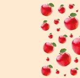Patroon met rode appelen Stock Afbeeldingen