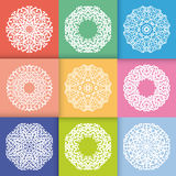 Patroon met Ronde Ornamenten Royalty-vrije Stock Afbeeldingen