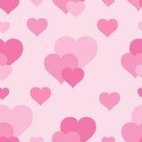 Patroon met roze harten Stock Foto
