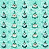 Patroon met santa Royalty-vrije Stock Afbeelding