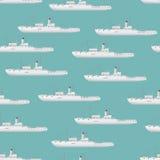 Patroon met schepen Stock Foto's