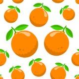 Patroon met sinaasappelen stock illustratie
