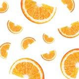 Patroon met sinaasappelen Stock Afbeelding
