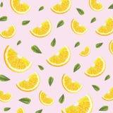 Patroon met sinaasappelen Royalty-vrije Stock Afbeeldingen