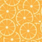 Patroon met sinaasappelen Stock Afbeeldingen