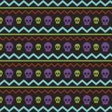 Patroon met skullies Stock Foto