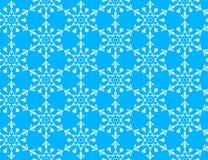 Patroon met sneeuwvlokken Royalty-vrije Stock Afbeelding