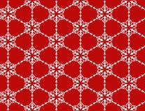 Patroon met sneeuwvlokken Stock Afbeeldingen