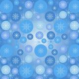 Patroon met sneeuwvlokken Royalty-vrije Stock Afbeeldingen