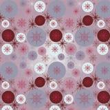 Patroon met sneeuwvlokken Stock Foto