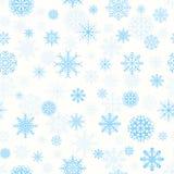 Patroon met sneeuwvlokken Stock Afbeelding