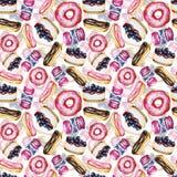 Patroon met snoepjes stock illustratie