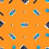 Patroon met sociale media elementen Royalty-vrije Stock Foto
