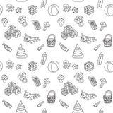 Patroon met speelgoed vector illustratie
