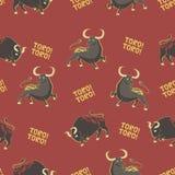 Patroon met stieren Royalty-vrije Stock Afbeelding
