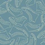 Patroon met tennisschoenen Stock Afbeelding