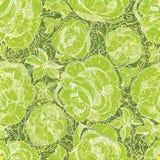 Patroon met uit de vrije hand schets van rozen Stock Foto's