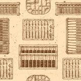 Patroon met verschillend telraam royalty-vrije illustratie
