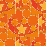 Patroon met verschillende kleur en groottecirkels en sterren Royalty-vrije Stock Foto