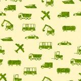 Patroon met vervoer Royalty-vrije Stock Afbeeldingen