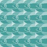 Patroon met vissen Stock Afbeelding