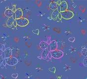 Patroon met vlinder Royalty-vrije Stock Afbeelding