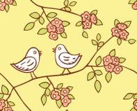 Patroon met vogels Stock Foto