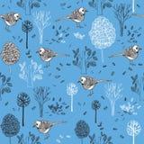 patroon met vogels Stock Foto's