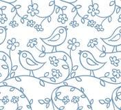 Patroon met vogels en bloemen Royalty-vrije Stock Fotografie
