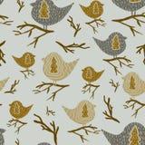 Patroon met Vogels royalty-vrije illustratie