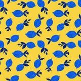 Patroon met waterverfcitroenen royalty-vrije illustratie
