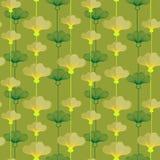 Patroon met Yellowcup-Bloemen stock illustratie