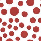 In Patroon Naadloos van rode polka stock illustratie