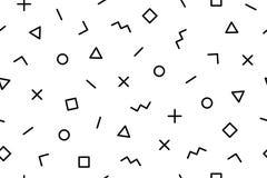 Patroon Naadloze het patroon jaren '80-jaren '90 van Memphis geometrische grafische stijlen vector illustratie