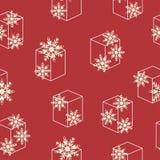 Patroon naadloze sneeuwvlok Stock Foto