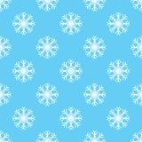 Patroon naadloze sneeuwvlok Stock Afbeelding